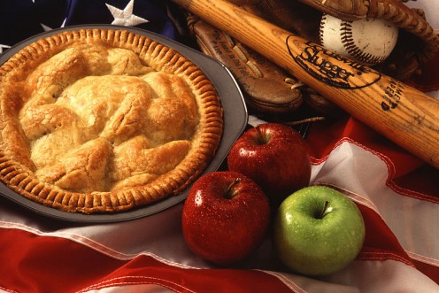 American cultural icons include apple pie and baseball.