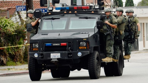 An example of military style policing