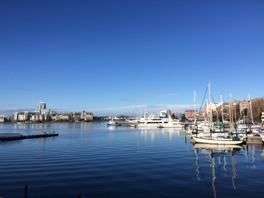 Looking out towards Victoria from Fisherman's Wharf
