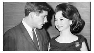President John F. Kennedy with reporter Dorothy Kilgallen