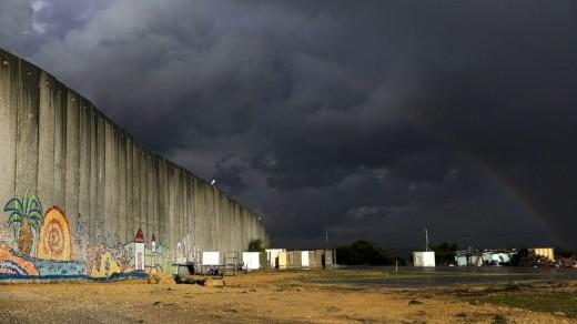 A concrete 'barrier' near the Gaza Strip, February 13, 2017