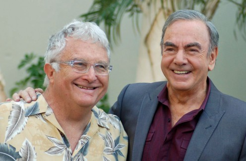 Randy Newman (Rt) with Neil Diamond (Lt) 2012.