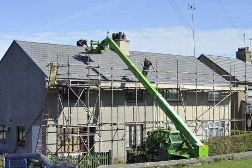 Home roof repair.