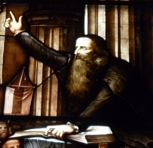 John Knox preaching at funeral.