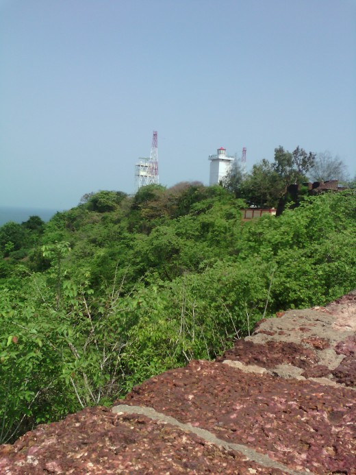 Light house captured from Aguada Fort