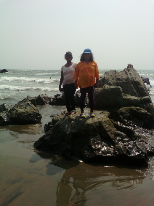 Chandana, Papu at Vagator beach