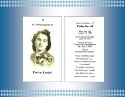 Genealogy Treasures for your Family Tree Book - The Funeral Card