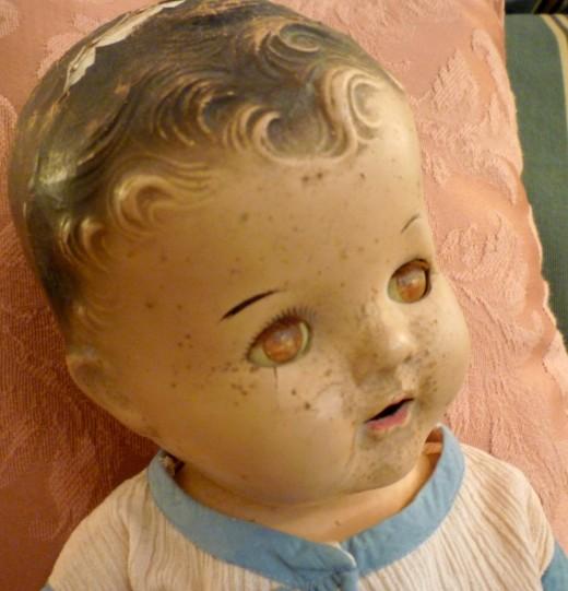 Closeup of Annette's head