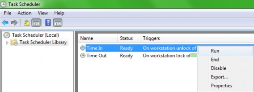 Task Scheduler: Run