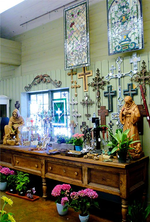 Much to admire and/or purchase at Martha's Bloomers in Navasota, TX