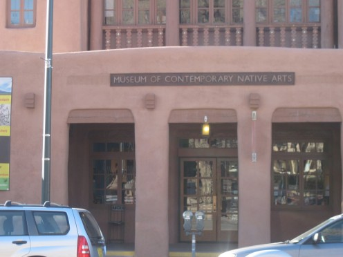 Entrance to Museum of Contemporary Native Arts