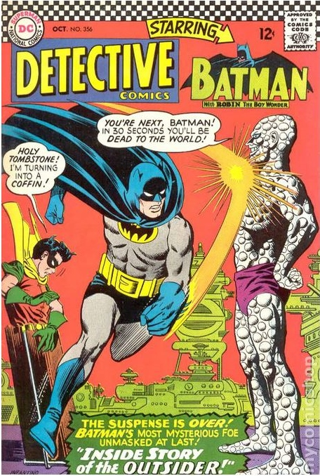 The cover to DETECTIVE COMICS (1st Series)#356 (October 1966); cover by Carmine Infantino and Joe Giella.