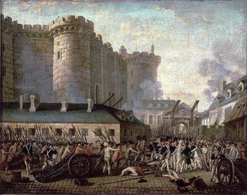 """The storming of the Bastille"" it signaled the beginning of the French Revolution July 14, 1789."