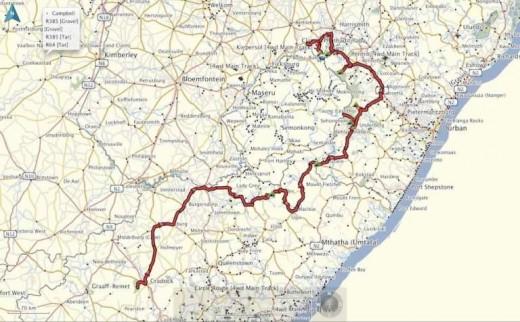 Drakensberg-route