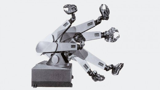 KUKA launched the first industrial robot with six electromotively powered axes in 1973.