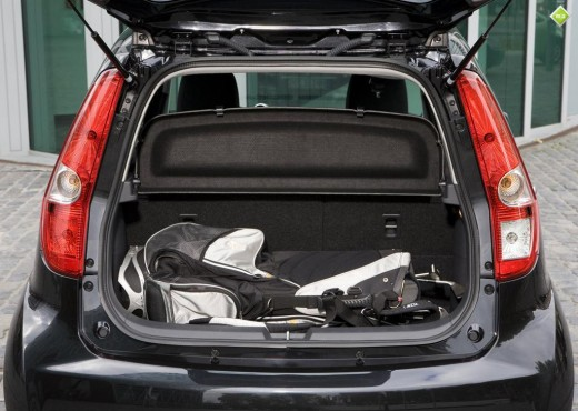 Maruti Ritz has good space in the back for luggage.