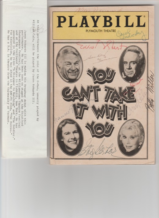 Playbill of YOU CAN'T TAKE IT WITH YOU