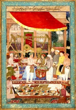 The latent potential for the developmemt of the capitalist economy, organisations hired the Mughal