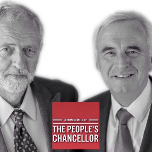 Shadow Chancellor John Mcdonnell pictured with  Labour leader Jeremy Corbyn challenging Phillip Hammond's budget and the hike in National Insurance Contributions for the self employed contained with in it