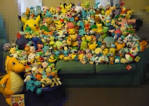 There are hundreds of Pokemon and thousands of different plushies for them all!