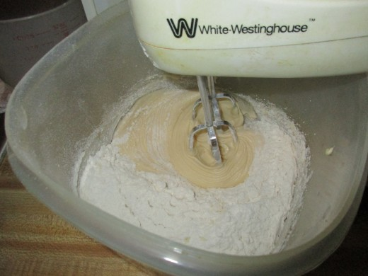 Add flour and mix
