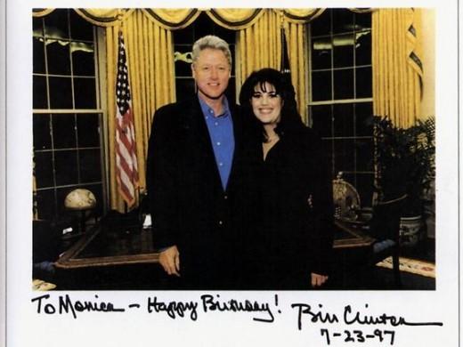 Bill Clinton and Monica Lewinski