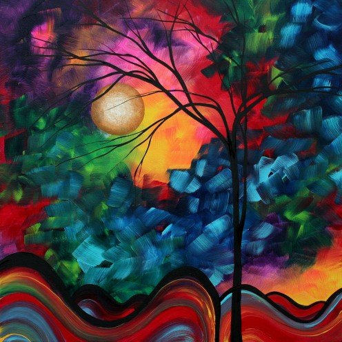 Painting created by Megan Duncanson