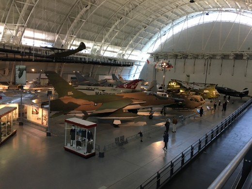 The museum is broken up into sections. You will find modern aircraft together, World War II aircraft together, and so on and so forth.