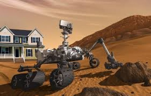 The Mars Rover still rides around Mars sending footage to Earth City (City built on Mars).