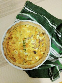 Roast Pumpkin, Caramelized Onion and Feta Quiche