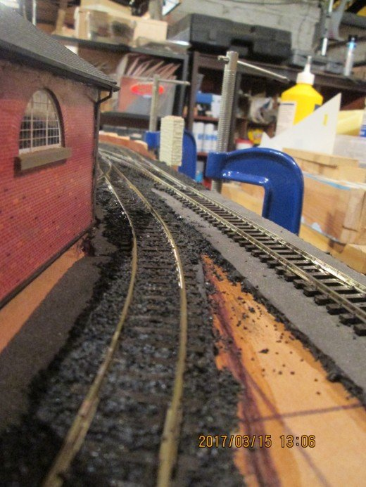 The shunt road on the outside around the goods shed...