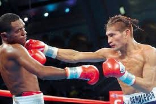Felix Machado is seen here, losing a close decision to Luis Perez.
