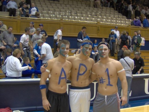 The Cameron Crazy on the right is my son.