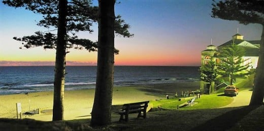 Cottesloe Beach,Perth, at twilight.