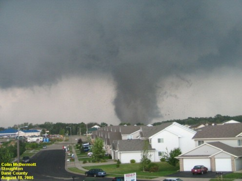 A dangerous funnel cloud.