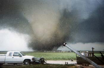 A twister on the ground can destroy life and property as some cut a swath as wide as 15 miles.