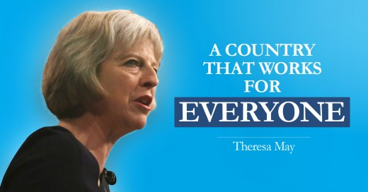 Theresa May and slogan