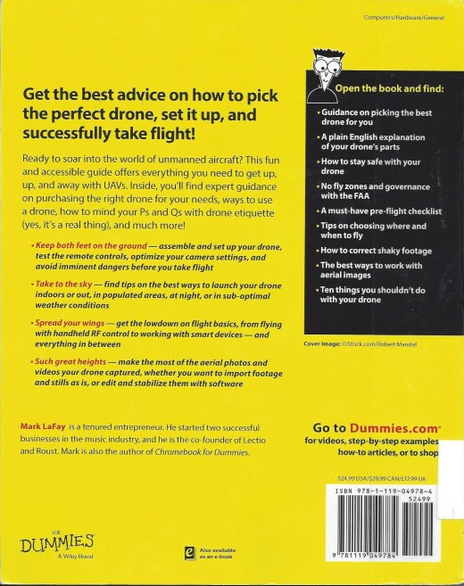"The Back Cover of ""Drones for Dummies"""