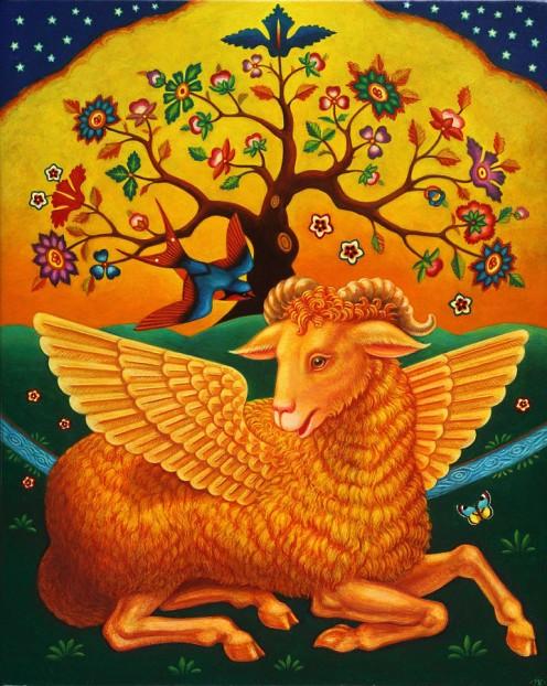 The Ram with The Golden Fleece