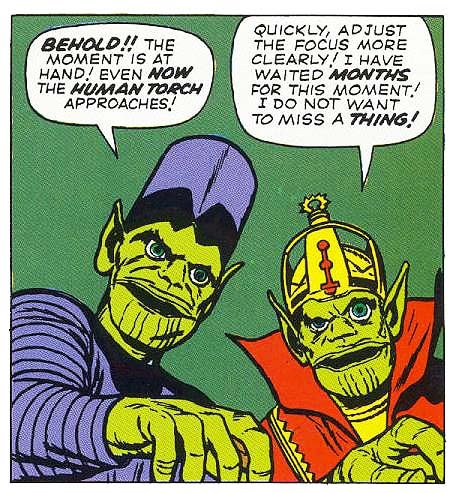 Man, the Skrulls looked ridiculous back then, and that might've been the idea.