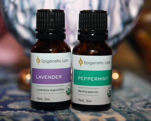 Lavendar and Peppermint Essential Oil.