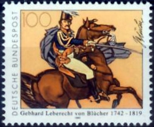Deutsche Bundespost's 1992 stamp depicting Marshall Bluecher