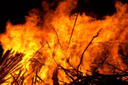fierce fire invasion