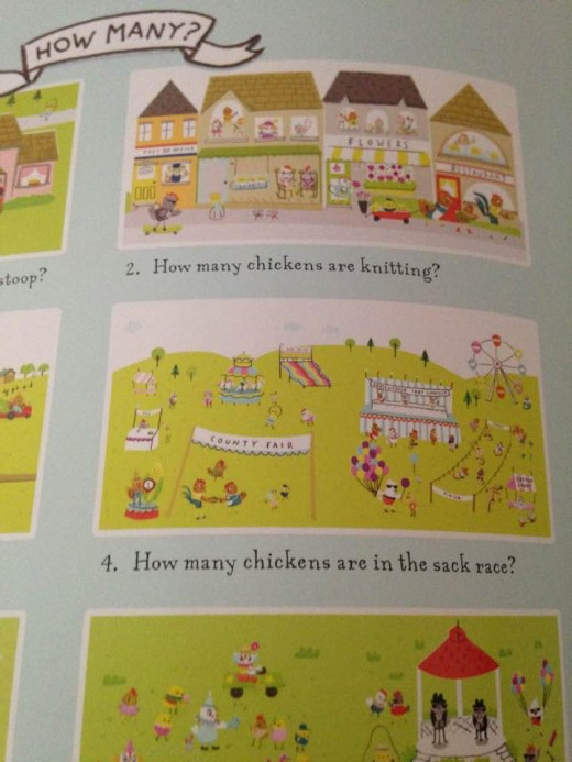 Children will enjoy counting and answering the question that each illustration features.
