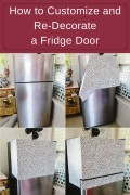 How to Customize and Re-Decorate a Fridge Door