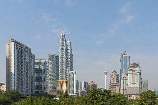 Kuala Lumpur Skyline with the twin towers