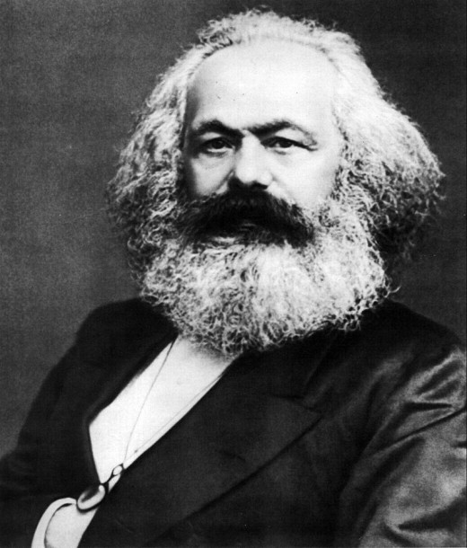 Karl Marx lived in London.  He wrote the Communist Manifesto and other works in the city.  He often worked in the British Museum Reading Room.  Marx died in Hampstead in 1883 and is buried in Highgate Cemetary not far from his final home.