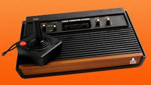 The original Atari 2600 was released in 1977. Several years later a smaller version was released called the Atari 2600 Junior.