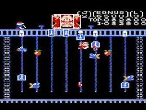 Donkey Kong Junior is about junior trying to rescue his father from Mario which is a big 180 degree turn from the first installment.