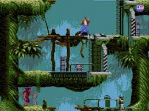 Flashback is a science fiction game and it had graphics that were far ahead of their time upon its release.